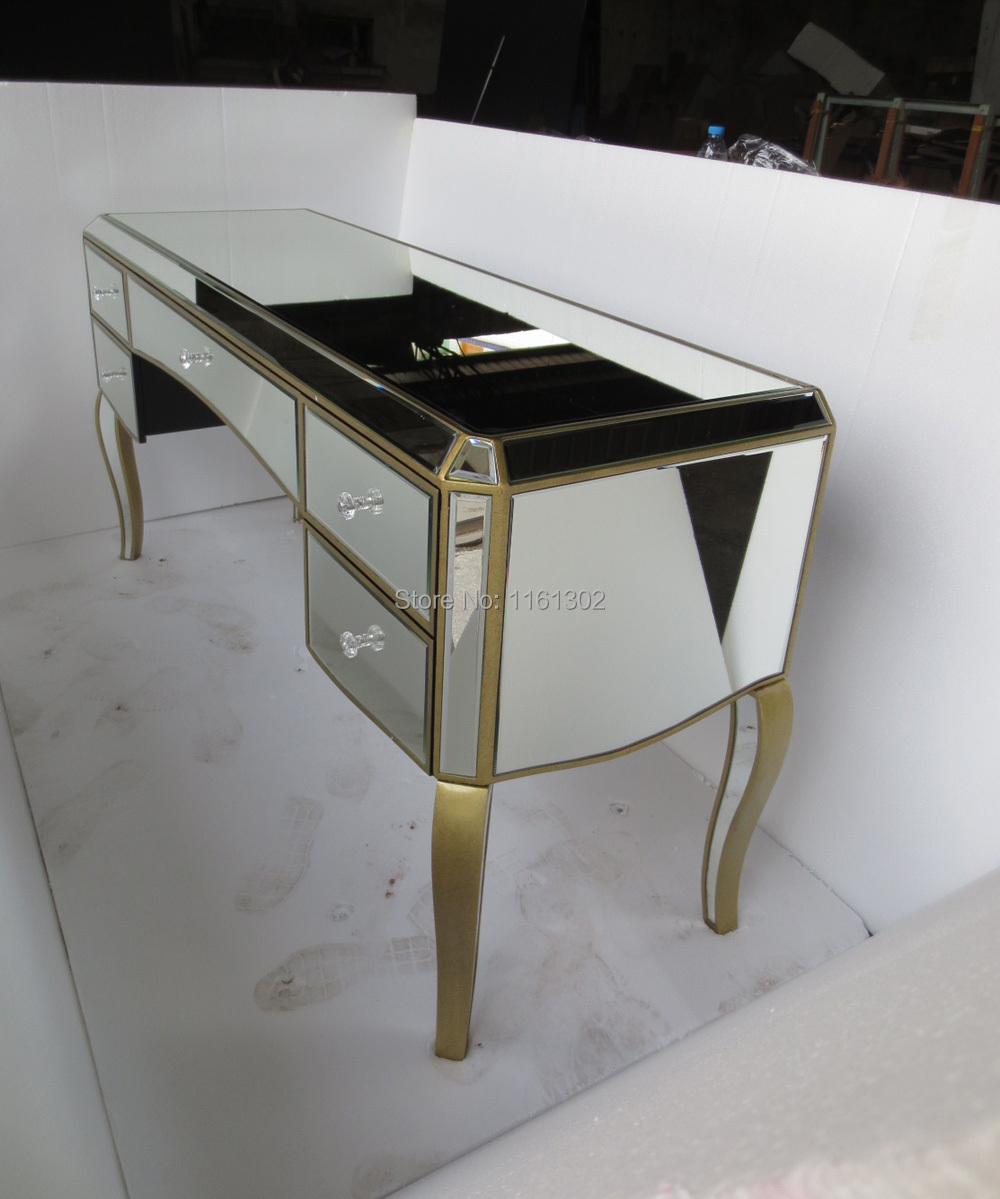 Antique Gold Rimming Mirrored Dressing Table In Dressers From Furniture On  Aliexpress.com | Alibaba Group