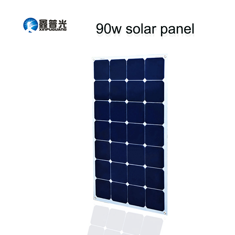 Xinpuguang 16V 90W solar panel quality cell Aluminum board for home system car RV boat yacht 12V battery charger 926*540*3mm boguang 16v 90w solar panel quality cell aluminum board for home system car rv boat yacht 12v battery charger