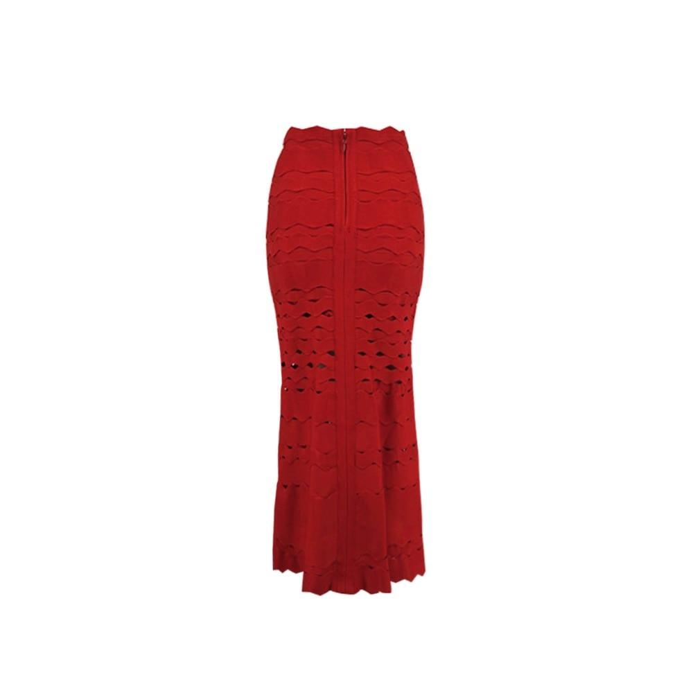 kaki Jupe Patchwork multi Ligne Rouge Mode Blanc De Partie Femmes rouge Célébrité Beige Bureau Travail Dames Jacquard blanc Noir Mi Une Noir mollet Bandage Nouvelle qHxz441wS