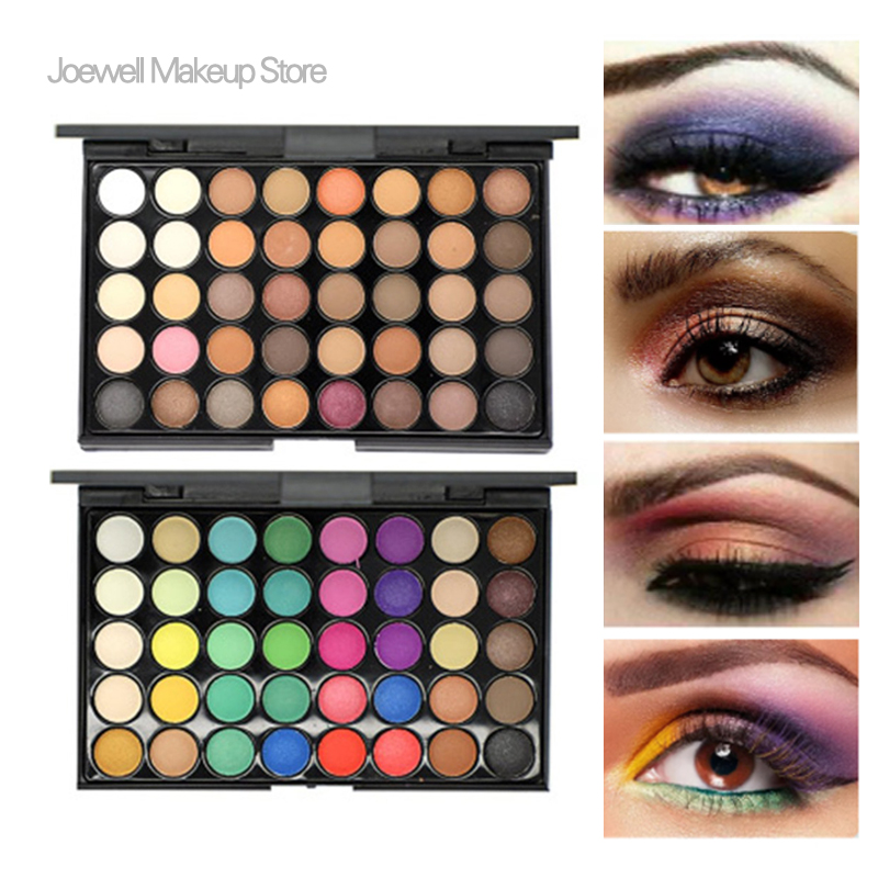Natural Eyeshadow Palette Makeup Glitte Long-lasting Eye Shadow Easy To Wear Eyeshadow Matte Shimmer 40 Color Beauty Essentials Beauty & Health