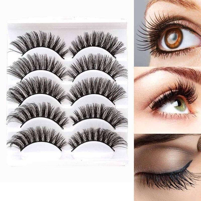 949c71f9205 Beauty & Health Realistic 5pairs 3d Mink Hair False Eyelashes Makeup Cross  Long Messy Fake Eye Lashes Handmade Extension Make Up Beauty Tools  Maquiagem ...