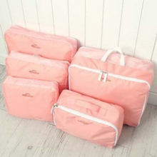 5pcs In One Set Travelling Storage Bag Luggage Clothes Tidy