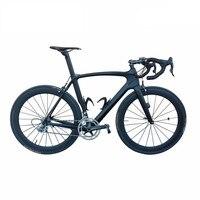 SmileTeam 700C 도로 자전거 T800 탄소 섬유 프레임 자전거 자전거 Ultegra R8000 22 속도 Bicicleta 50 미리메터 바
