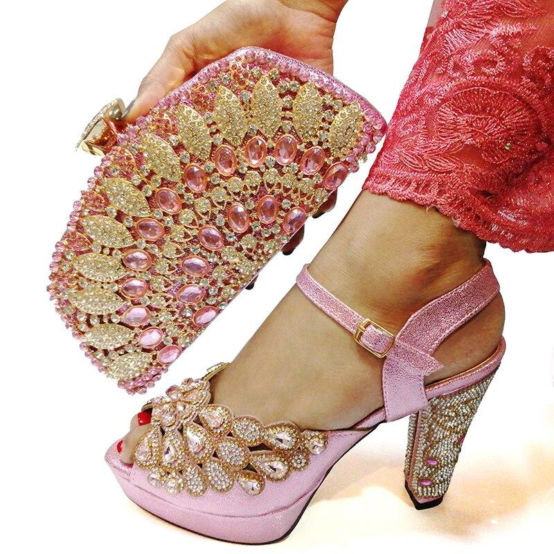 Set di scarpe e Borsa Nuovo 2019 Donne Scarpe e Borsa Set In Italia di Colore Nero Scarpe Italiane con i Sacchetti di Corrispondenza set-in Pumps da donna da Scarpe su  Gruppo 3