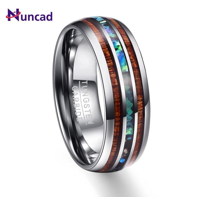 New Arrival Wood Grain Polishing Men Rings 100 Tungsten Carbide Wedding Bands Multi Size