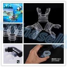 Promotional eco friendly silicone diving mouthpiece non-toxic anti-allergy snorkel accessory