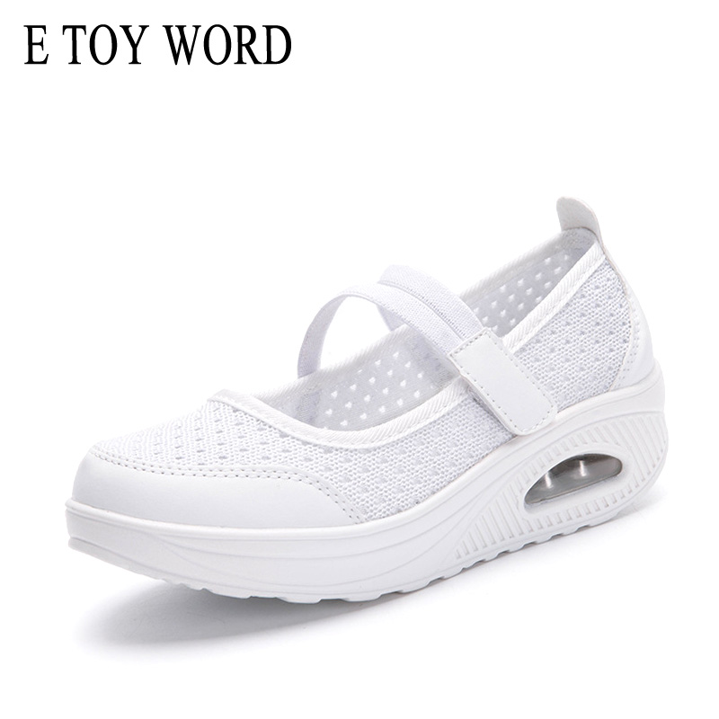 E TOY WORD Summer breathable mesh shoes women shallow mouth lightweight canvas rocking shoes non-slip casual shoes zapatos mujer 2015 summer shallow mouth of canvas shoes women shoes a pedal lazy shoes casual flat white shoes korean wave shoes