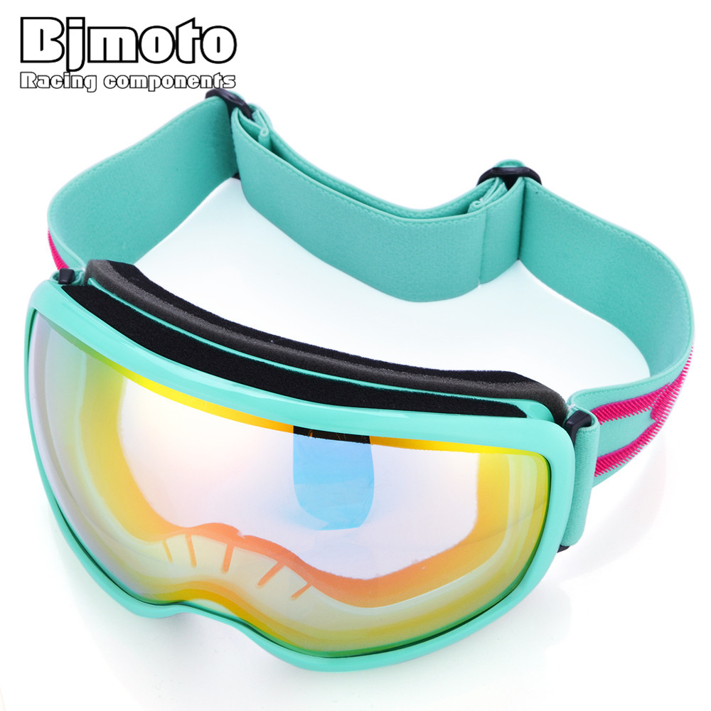 Bjmoto 7colors unisex ski goggles double lens anti-fog professional sking sunglasses glasses skiing goggles