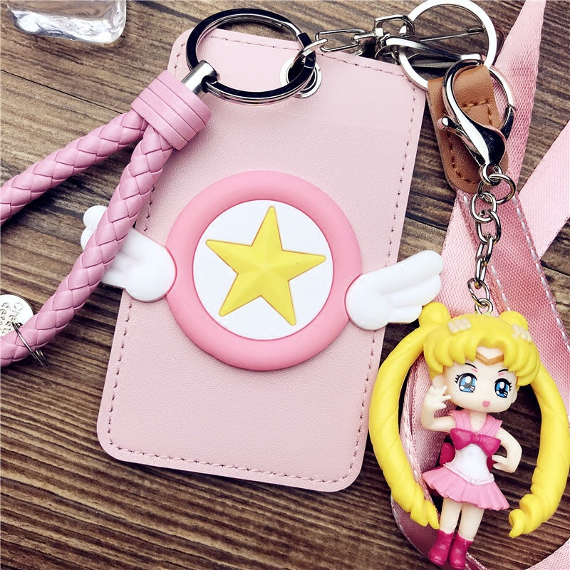 Selfless Magic Wand Card Set Key Chain Where Sailor Moon Card Package Bus Meal Card Breastpiece Hang Rope Traffic Subway Protective Slee Easy To Use Costume Props
