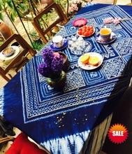 Japanese Shibori Tie dye Arts Gorgeous adornment / Unique Original design Handmade Kanoko Table Cloth Many Uses