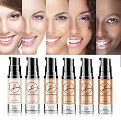 Full Coverage Waterproof Colour Soft Matte Liquid Foundation Make Up Foundation Concealer Makeup Matte Face Base Tone 6 Color