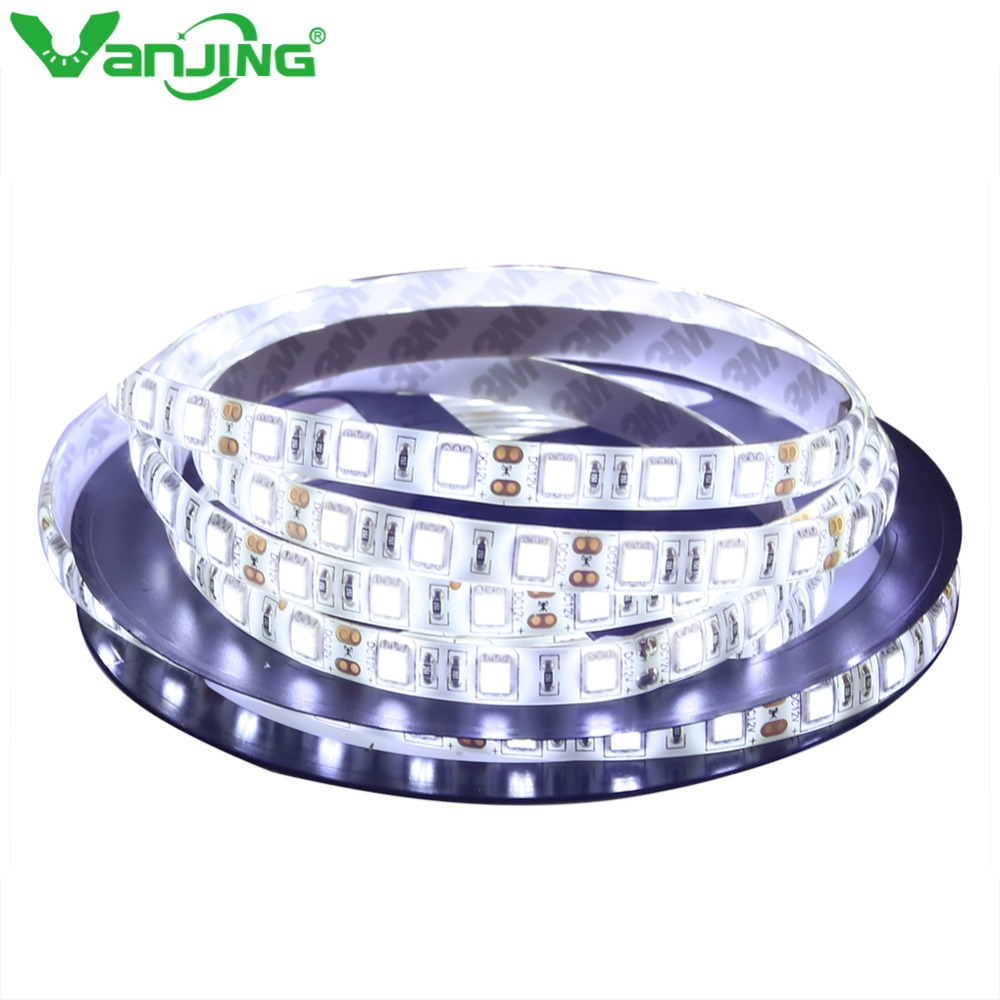 IP65 Waterproof 5050 RGB LED Strip 5M 300LEDs SMD DC 12V Diode Tape Red/Green/Blue/Cool White/Warm White/Yellow Flexible Light zdm 5m 72w led plant light strip 300pcs 5050 5 red 1 blue group dc 12v
