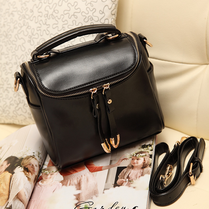 Hot Women Camera Bag Bucket Cowhide Portable One Shoulder Bags Small Flap Crossbody Female Handbag Bolsas Sac 317 In From