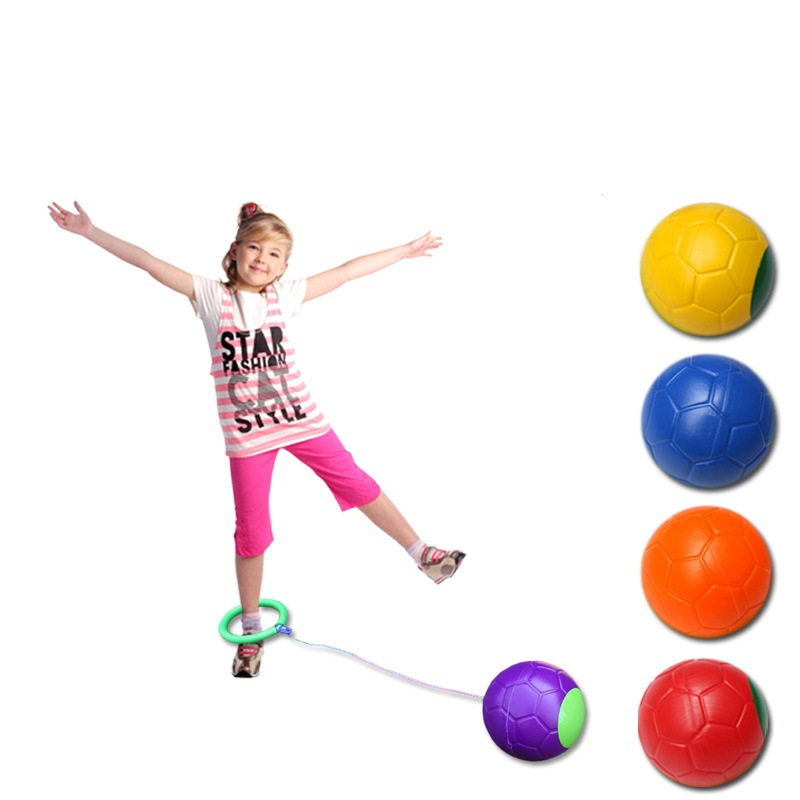 Ankle Jumping Ball Toy Children Bouncing Juggling Sport Game Kids Outdoor Activity Fitness Training Skip Toy Ball