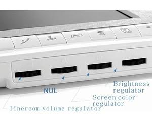 Image 4 - 7 אינץ צג וידאו דלת טלפון אינטרקום מערכת פעמון מצלמה חזותי אינטרקום פעמון וידאו אינטרקום doorphone עבור וילה