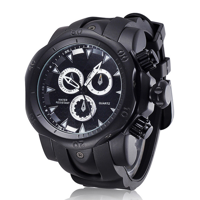 b3e1500ba872 2016 Golden Luxury Watch Rubber Watchband Pendientes Relogio Masculino Men  Wristwatch Clock Hours Casual Watches
