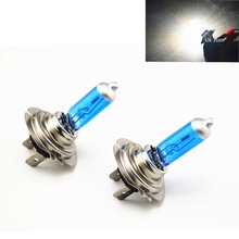 2pcs 12V H7 6000K 60W high beam 55W low Halogen Super White Light Bulb Globe Xenon HID Car Head Globes Bulbs Lamp