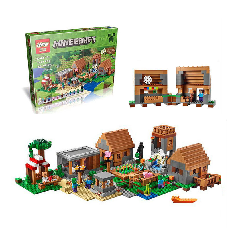 NEW 18008 1673 My world series The Village model Building Blocks set compatible legoed 21128 Classic house Architecture new lp2k series contactor lp2k06015 lp2k06015md lp2 k06015md 220v dc