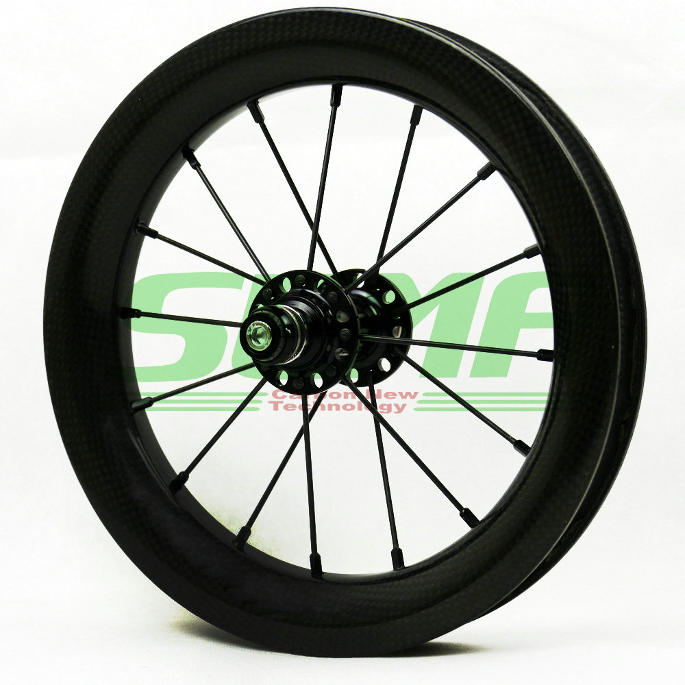 Carbon Wheels SEMA 12 inch 203 25mm Depth Clincher Kids