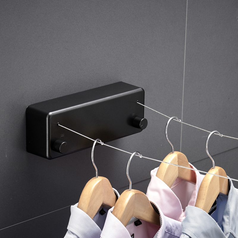 Balcony Household Invisible Telescopic Clothesline Indoor Clothes Hanger Rope