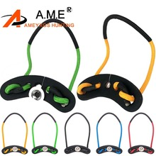 1 Piece CP317 Bow Parachute Sling For Archery Compound Braided Camo Wrist Survival  Leather 7 Colors for Choose