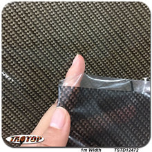 TSTD12472  1M * 10M popular Dark black transparent  carbon fiber car decoration Hydrographics Film Water Transfer Printing Films