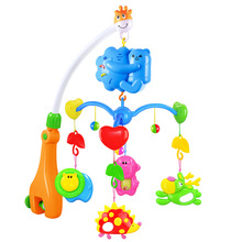 0-12 Months Baby Crib Musical Mobile Bell Animal Rattles Hanging Crib Mobile Bell With Music Box Educational Toy For Newborns