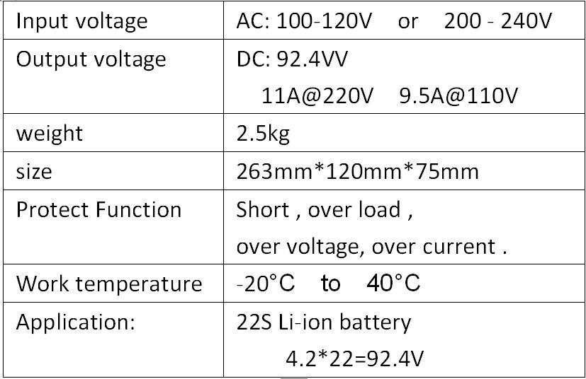 92.4 ボルト 11A スマート充電器 22 s リポ/リチウムポリマー/リチウムイオンバッテリーパックスマート充電器サポート CC /CV モード 4.2 ボルト * 22 = 92.4 ボルト  グループ上の 家電製品 からの 充電器 の中 2