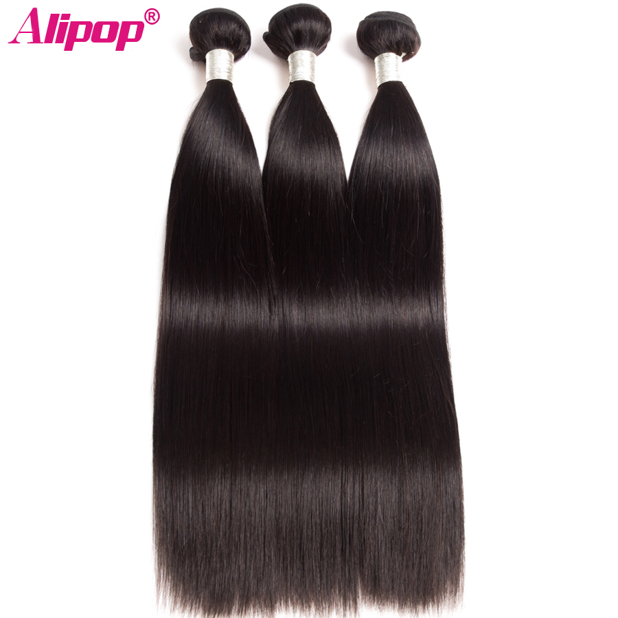 Image 4 - Alipop Hair Peruvian Straight Hair Bundles Human Hair Bundles 3 Bundle Deals Double Weft Remy Hair Extension Natural Color-in Hair Weaves from Hair Extensions & Wigs