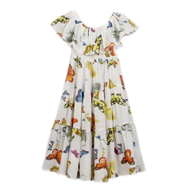 4 to 14 years kids & teenager big girls summber butterfly print off-shoulder bohemian beach dress children casual long dresses4 to 14 years kids & teenager big girls summber butterfly print off-shoulder bohemian beach dress children casual long dresses