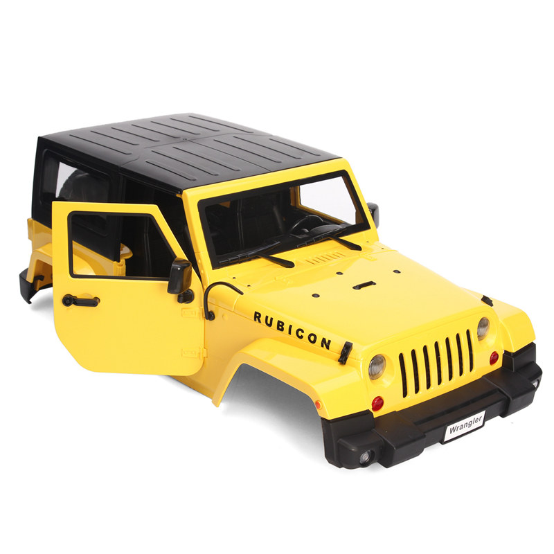 Yellow Body Shell Climbing Car Modified Car Shell For 1:10 RC Model Crawler Car