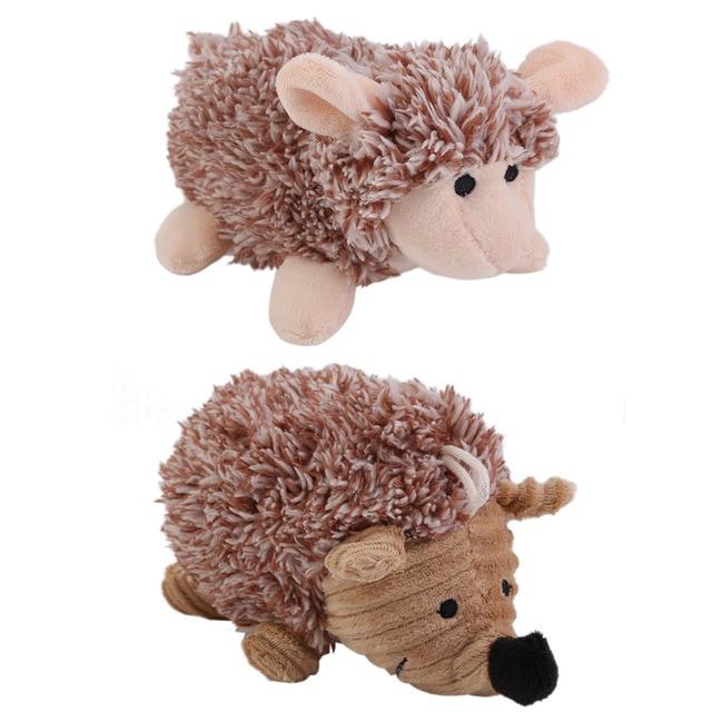 Pet Puppy Plush Sound Dog Toys Pet Chew Squeaker Squeaky Plush Sound Cute Sheep/Hedgehog Dumb Pet Dog Cat Talking Toys