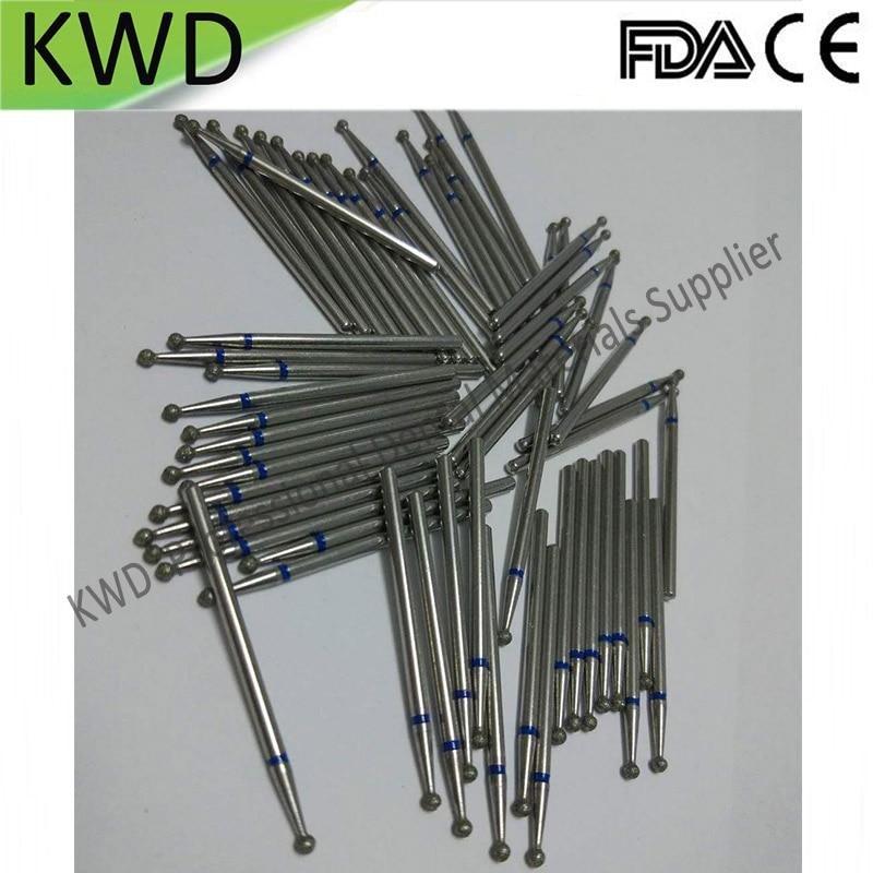 100pcs Lot Round Dental lab Diamond Burs HP 2 35mm Coating Diamond Low Speed Cutter 170