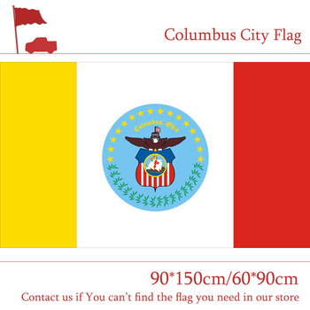 Columbus City Flag The Capital Of US Ohio State 90*150cm 60*90cm Flag 3x5ft Custom High-quality Polyester image
