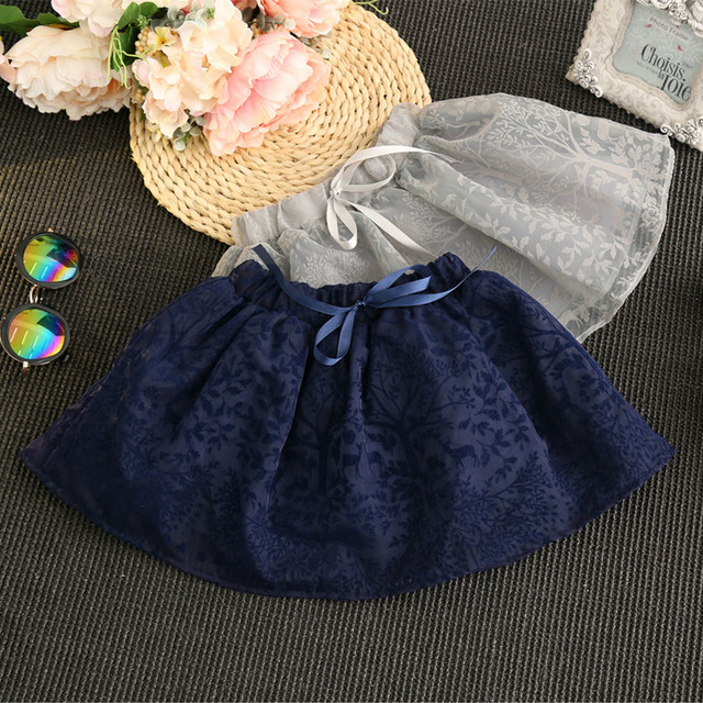 Hot Sell 2016 Spring Autumn Baby Girls Lace Tutu Skirt Fashion Children Princess Ball Gown Skirt For 2-7Years Kids Clothes