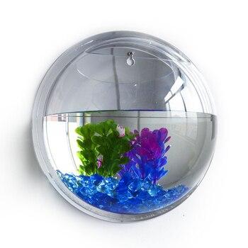 PETFORU Pot Plant Wall Mounted Hanging Bubble Bowl Fish Tank Aquarium Home Decoration Wall-Mounted Acrylic Fish Tank 1