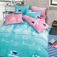 LILIYA Lovely Bedding Set Comforter Bedding Sets For Kid 4PC Sheet Cover 2 Pillowcases C