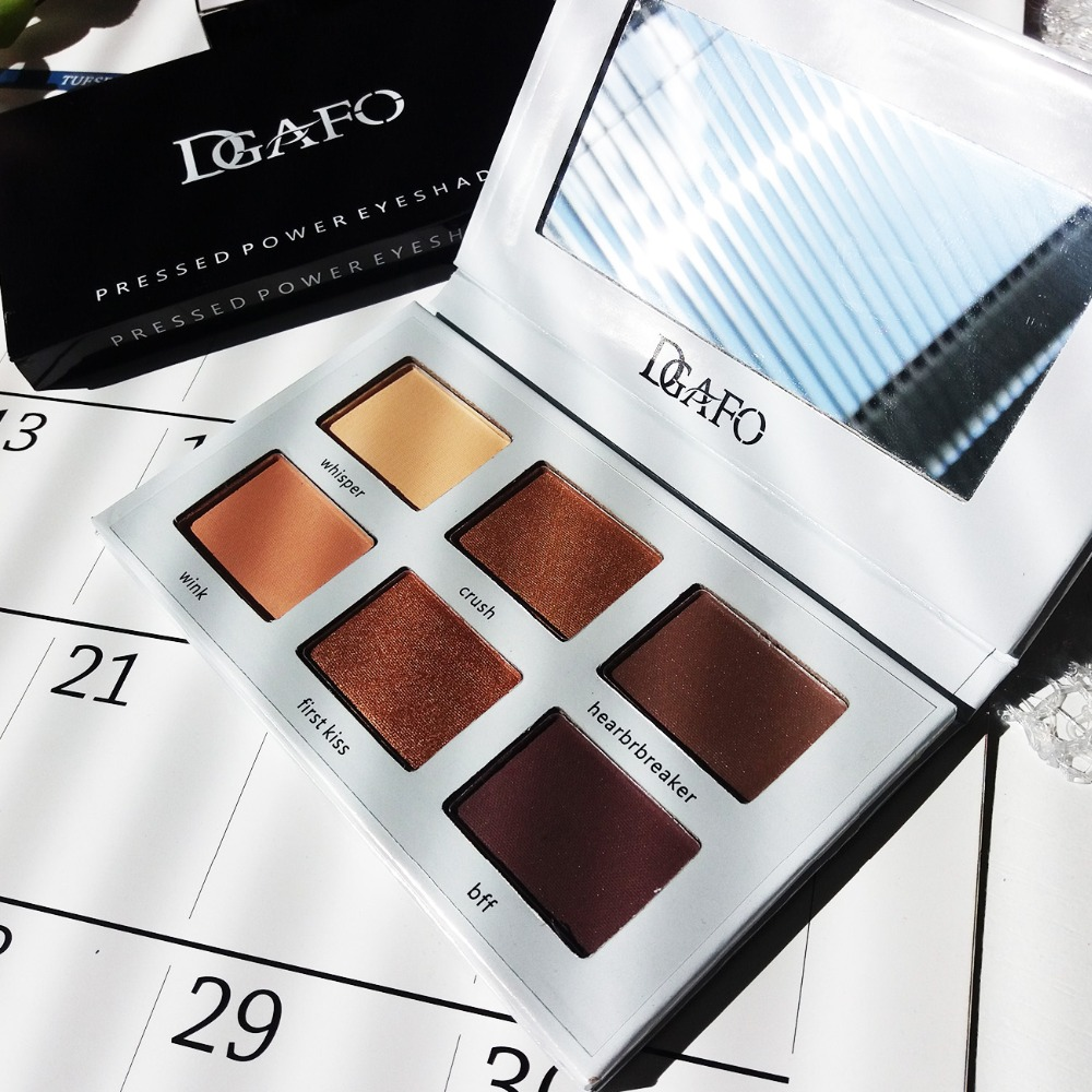 DGAFO Cosmetics 6 COLOR Eye Shadow Palette Maquillage Naked Makeup Eyeshadow Set Matte Bronzer Make Up Pallete in Eye Shadow from Beauty Health