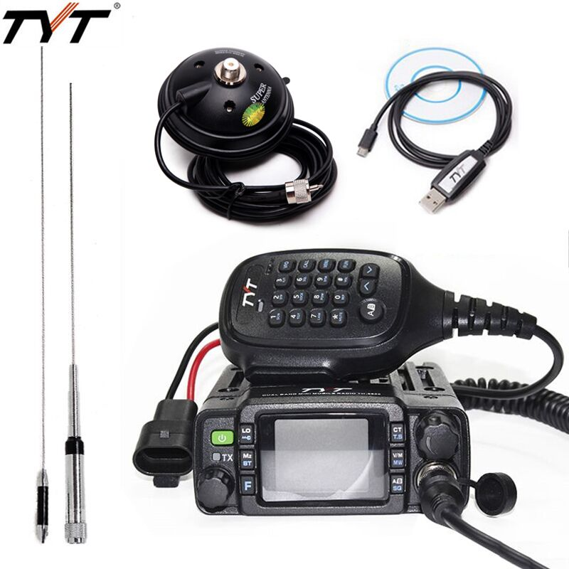 TYT TH-8600 IP67 Étanche Mini Mobile Radio 50 km Dual Band 136-174 mhz/400-480 mhz 25 w Voiture Radio JAMBON TH8600 talkie walkie