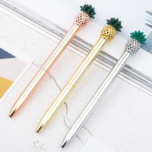 1.0mm Metal ballpoint pen Rose Gold new strange pen stationery gift Kawaii optional school office supplies