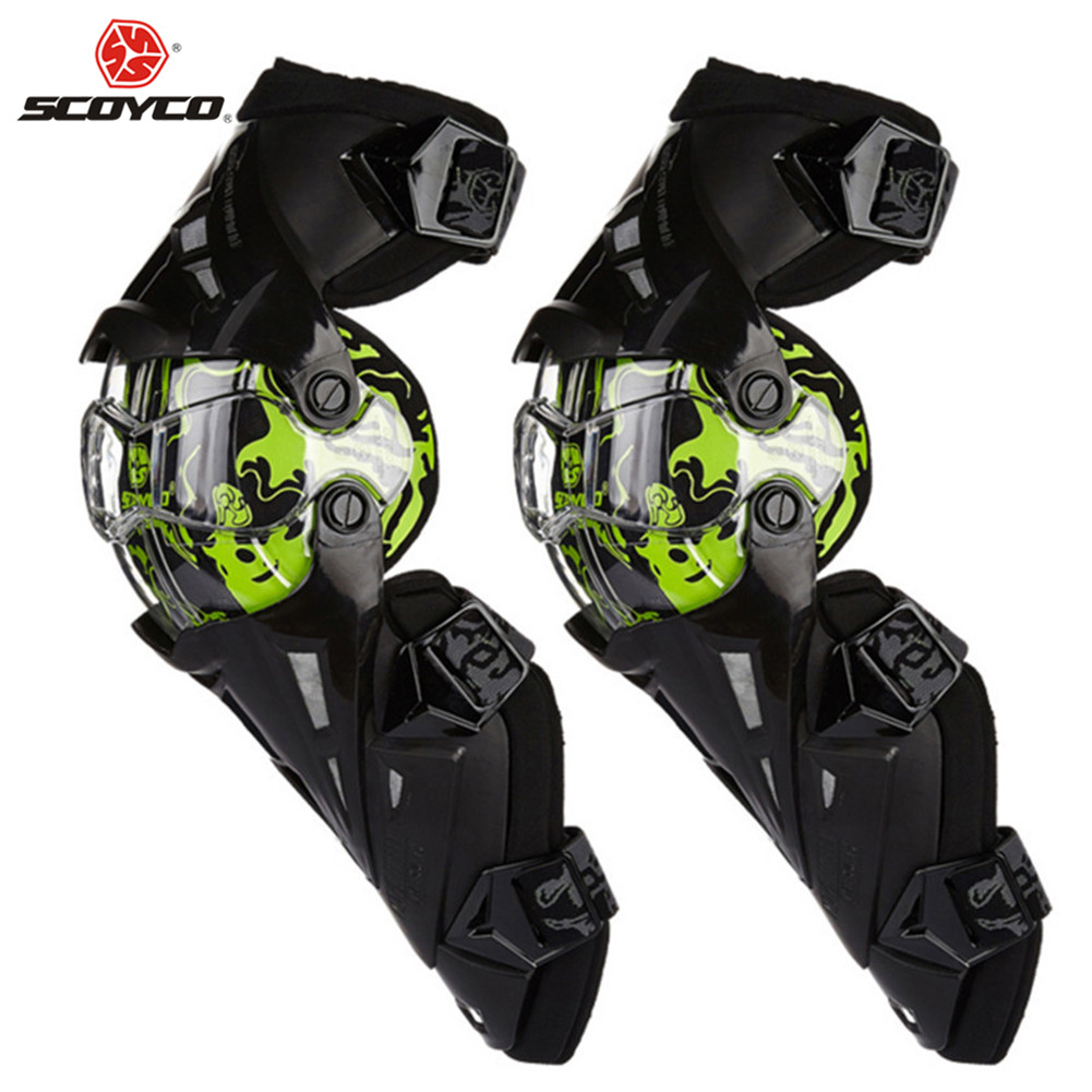SCOYCO Motorcycle Knee Motocross Protector Pads Guards Gear Motosiklet Dizlik Genouillere Moto Joelheira Protective Kneepads blue scoyco p043 protective jeans protector rider pants with ce knee moto motorcycle racing leisure oxford fabric trousers