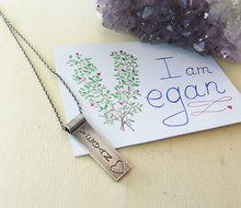 VEGAN Heart Pendant Necklace