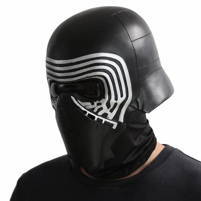 X-COSTUME Star Wars 7 The Force Awakens Kylo Ren Helmet Cosplay Props Cool PVC Full Head Helmet Black Mask Halloween Accessories 4