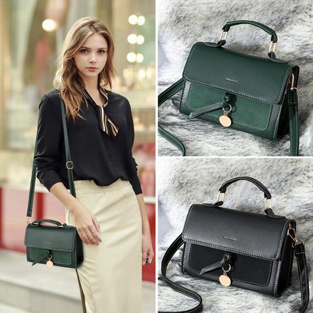 REPRCLA New Luxury Women Leather Handbag High Quality PU Shoulder Bag Brand Designer Crossbody Bags Small Fashion Ladies Bags 2