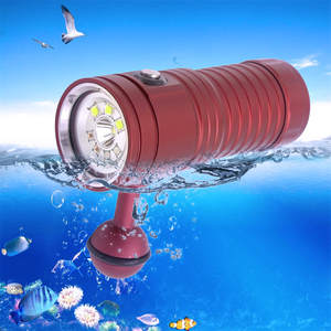Diving Flashlight Professional Underwater Photography Video Light Diving Flashlight  Waterproof Rechargeable Hard Light A36