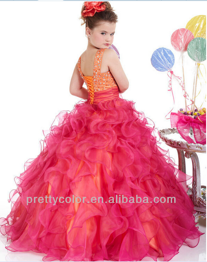 Flower Girl Dress Patterns Fashion Puffy Wedding Ball Gown Tank ...