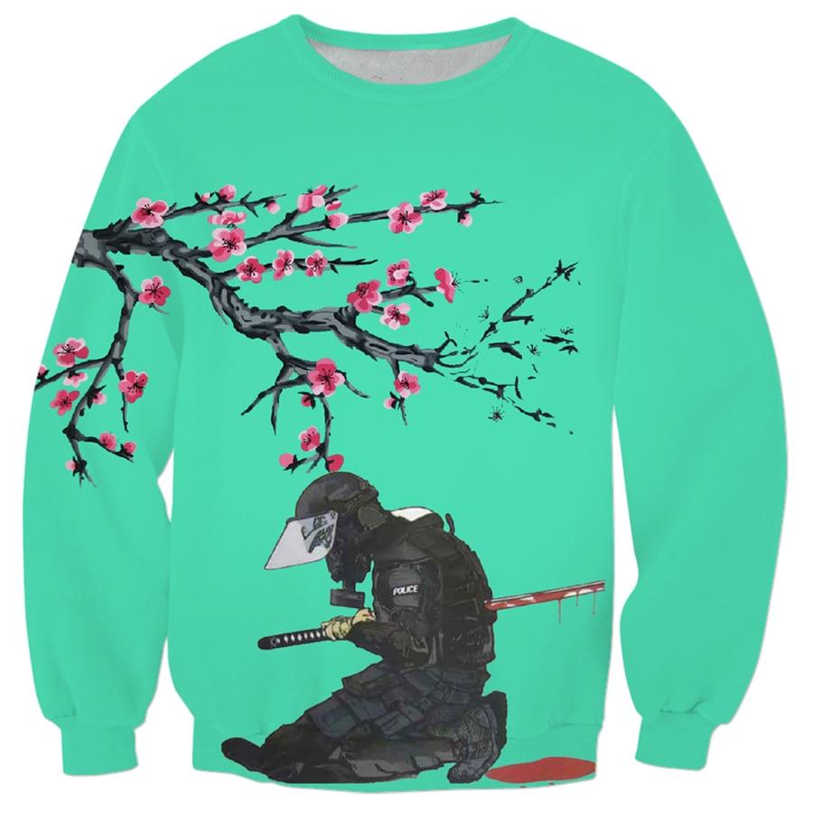 free shipping Japanese anime Streetwear Sweatshirt fashion Men Women Long sleeve Outerwear Death 3d Print Crewneck