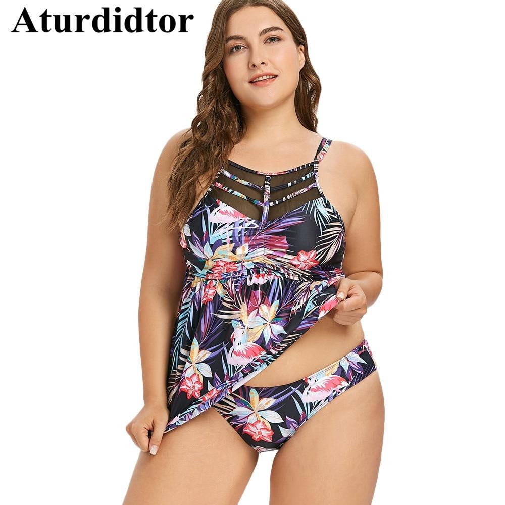 fb5febe6be3d0 Plus Size Tankini Flamingo Ruched Beach Dress Bathing Suit Women Bodysuit  Plus Size Two Piece Set