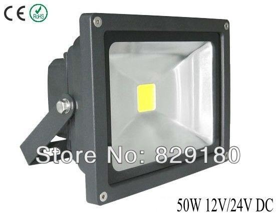 10 pièces 50 w led projecteur noir DC12V/24 V Basse tension publicité extérieure led projet-répéteur hdmi Chaud (3000 k) /pur Blanc (6000 k)