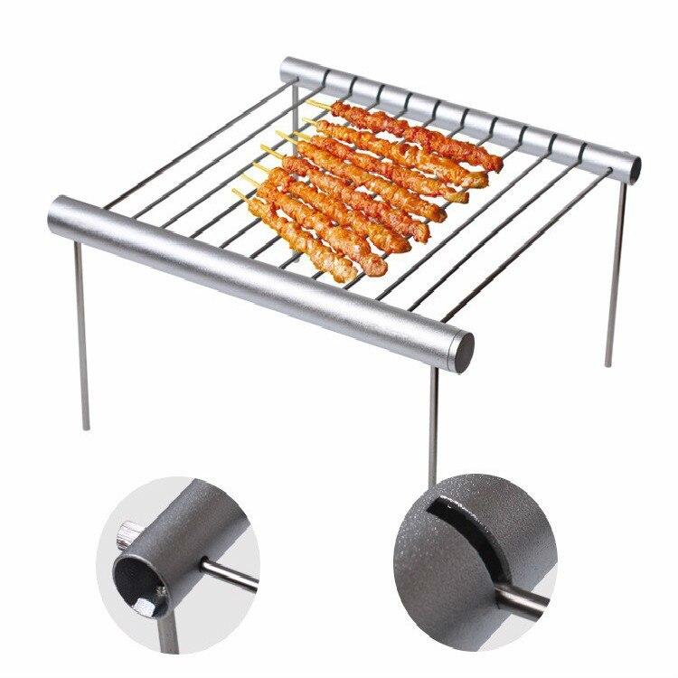 Barbecue en acier inoxydable Portable Barbecue pliant Mini poche Barbecue Barbecue Barbecue accessoires pour une utilisation en plein air du parc à la maison